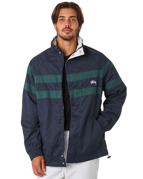 NAVY MENS CLOTHING STUSSY JACKETS - ST097507NAVY