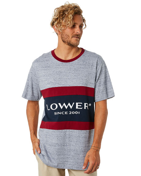 GREY MARLE RED NAVY OUTLET MENS LOWER TEES - LO18Q4MTS12GMRN
