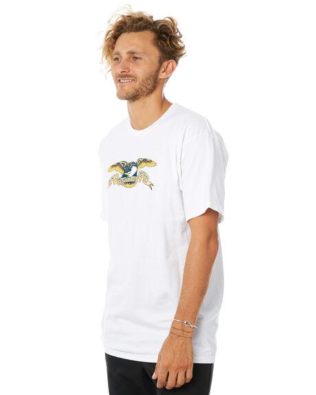 WHITE MENS CLOTHING ANTI HERO TEES - EAGLETWHT
