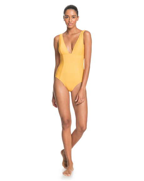 MINERAL YELLOW WOMENS SWIMWEAR ROXY ONE PIECES - ERJX103268-YKM0