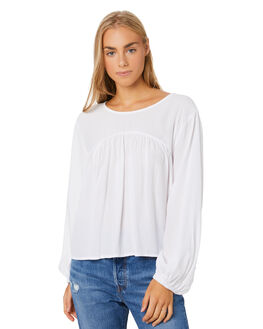WHITE WOMENS CLOTHING ZULU AND ZEPHYR FASHION TOPS - ZZ2872WHITE