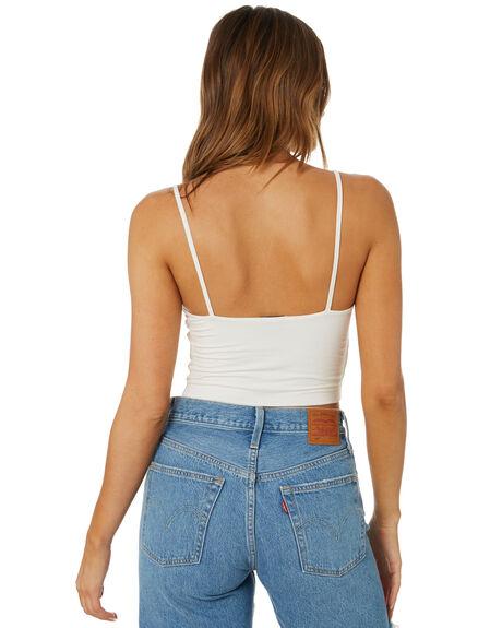 WHITE WOMENS CLOTHING LEE SINGLETS - L-652117-922WHT