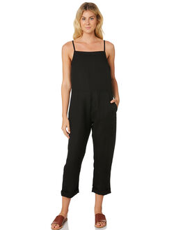 WASHED BLACK WOMENS CLOTHING SWELL PLAYSUITS + OVERALLS - S8189447WSHBK
