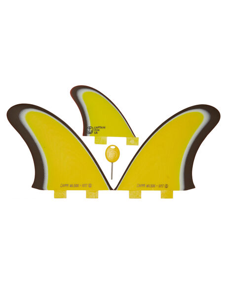 YELLOW BOARDSPORTS SURF CAPTAIN FIN CO. FINS - CFF3411704-YELYEL