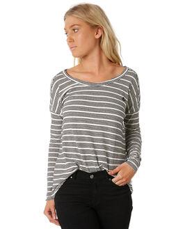 NATBLK STRIPE WOMENS CLOTHING THRILLS TEES - WTW8-133AZNATB