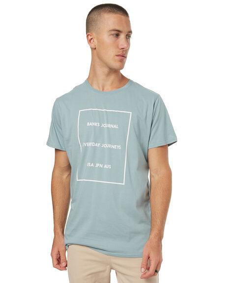 GLACIER BLUE MENS CLOTHING BANKS TEES - WTS0208GBL