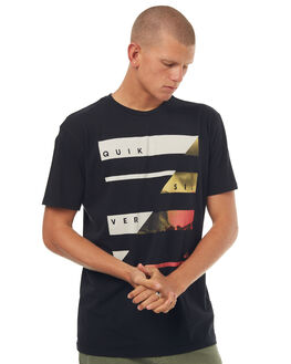 BLACK MENS CLOTHING QUIKSILVER TEES - EQYZT04569KVJ0