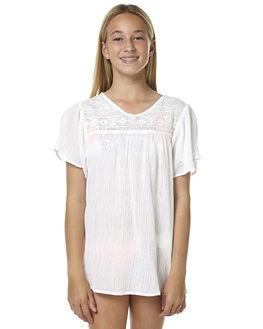 WHITE KIDS GIRLS BILLABONG FASHION TOPS - 5562151WHT