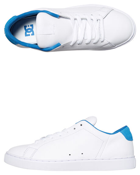 WHITE BLUE MENS FOOTWEAR DC SHOES SNEAKERS - ADYS100415WBL