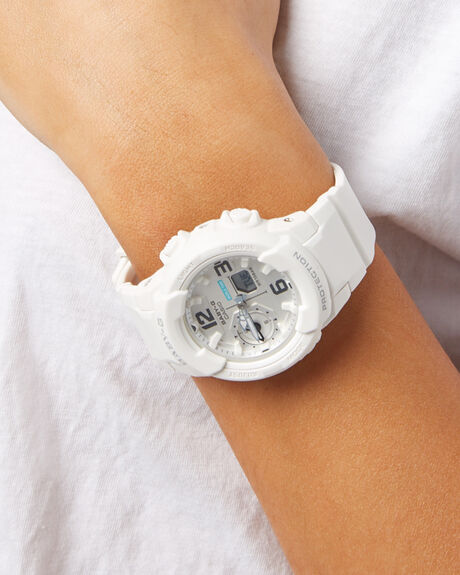 WHITE WOMENS ACCESSORIES BABY G WATCHES - BGA230-7BWHT