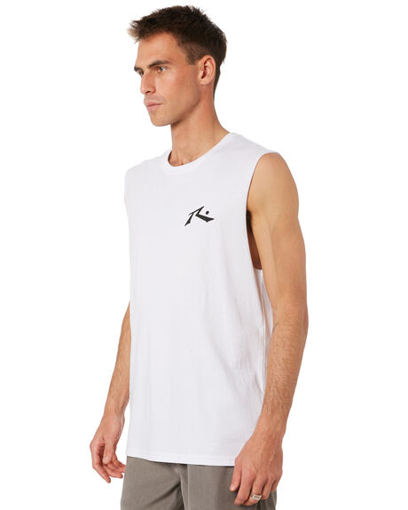 WHITE OUTLET MENS RUSTY SINGLETS - MSM0230WHT