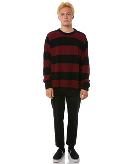 RED STRIPE MENS CLOTHING THE PEOPLE VS KNITS + CARDIGANS - AW18033RSTRP