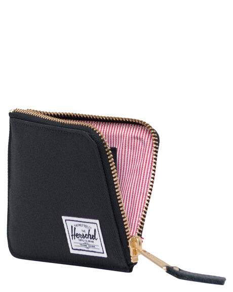 BLACK MENS ACCESSORIES HERSCHEL SUPPLY CO WALLETS - 10770-00001-OSBLK