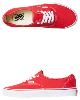 RED MENS FOOTWEAR VANS SKATE SHOES - SSVN-0EE3REDM