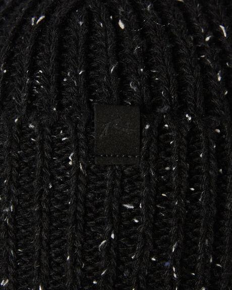 BLACK MENS ACCESSORIES RUSTY HEADWEAR - HBM0380BLK