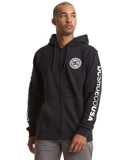 BLACK/WHITE MENS CLOTHING DC SHOES JUMPERS - EDYSF03216-XBBW