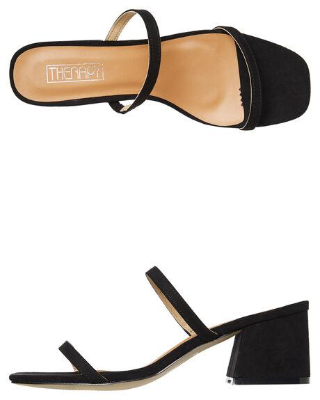c1d1f097313 BLACK SUEDE WOMENS FOOTWEAR THERAPY HEELS - SOLE-6122BLK