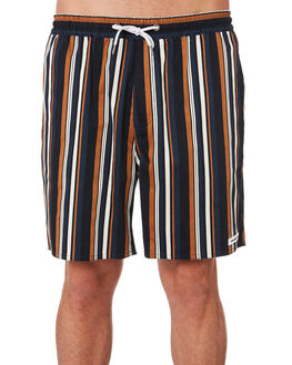 NAVY STRIPE MENS CLOTHING RPM SHORTS - 9SMB03ANVYS
