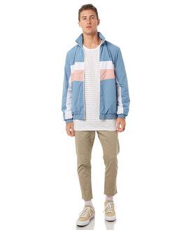 LIGHT BLUE MENS CLOTHING BARNEY COOLS JACKETS - 500-MC4LBLU