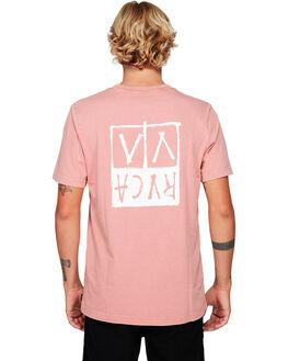 DUSTY ROSE MENS CLOTHING RVCA TEES - RV-R192041-DU4