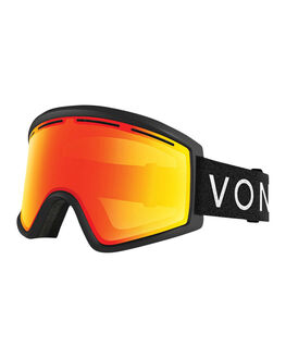 BLACK/FIRE CHROME BOARDSPORTS SNOW VONZIPPER GOGGLES - VZ-GMSCLEAFR-BLK