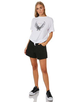 WHITE WOMENS CLOTHING SILENT THEORY TEES - 6044054WHT