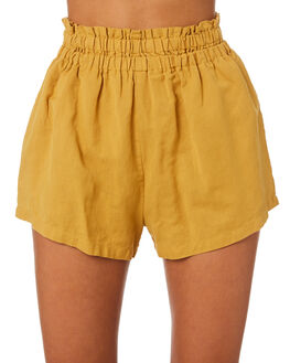 MUSTARD WOMENS CLOTHING SWELL SHORTS - S8201196MUSTD