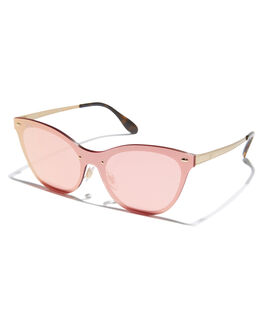 BRUSHED GOLD PINK WOMENS ACCESSORIES RAY-BAN SUNGLASSES - 0RB3580NBRGP
