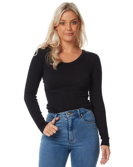 BLACK WOMENS CLOTHING SWELL TEES - S8183101BLACK