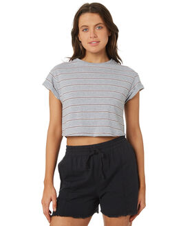 MULTI STRIPE WOMENS CLOTHING SILENT THEORY TEES - 6070064MUL