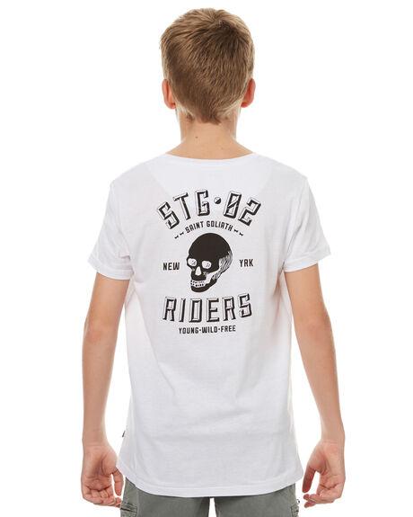 WHITE KIDS BOYS ST GOLIATH TEES - 2491031WHT