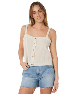 TAUPE WOMENS CLOTHING RIP CURL FASHION TOPS - GSHCC95067