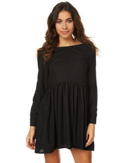 BLACK WOMENS CLOTHING THE BARE ROAD DRESSES - 790351-02BLK