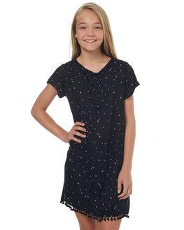 BLACK WHITE KIDS GIRLS EVES SISTER DRESSES - 9900103BLKWT