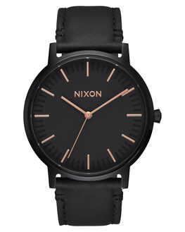 ALL BLACK ROSE GOLD WOMENS ACCESSORIES NIXON WATCHES - A1058957