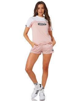 WHITE PINK SPIRIT WOMENS CLOTHING ADIDAS TEES - EC0744PNK