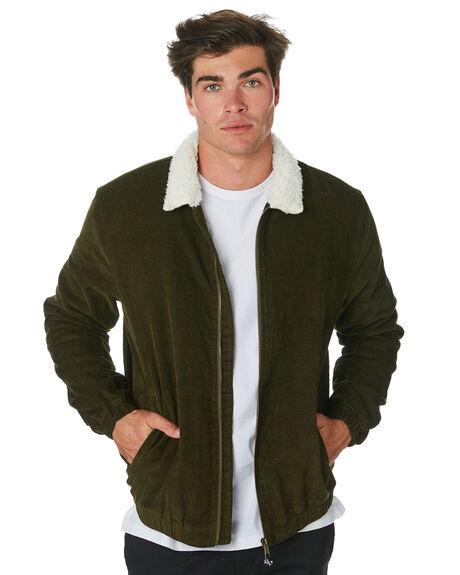 OLIVE MENS CLOTHING DEPACTUS JACKETS - D5184383OLIVE