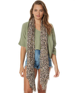 LEOPARD WOMENS ACCESSORIES TIGERLILY SCARVES + GLOVES - T471860LEO