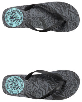 BLACK MENS FOOTWEAR SANTA CRUZ THONGS - SC-MYD7730BLK