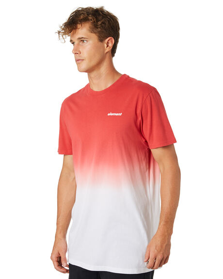 RED MENS CLOTHING ELEMENT TEES - 184009RED