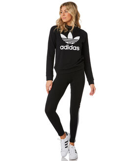 BLACK WOMENS CLOTHING ADIDAS JUMPERS - DV2612BLK