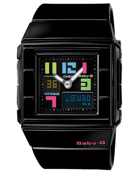 BLACK V MENS ACCESSORIES BABY-G WATCHES - BGA200PD-1BLK