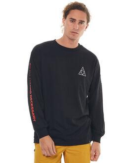 BLACK MENS CLOTHING HUF TEES - TS00170BLK