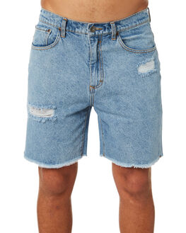 THRIFTED BLUE MENS CLOTHING RUSTY SHORTS - WKM0916THB