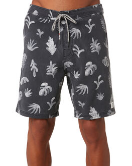 BLACK WASH MENS CLOTHING KATIN BOARDSHORTS - TRTRO05BLKWS