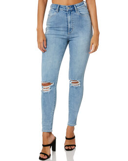 BLATIC BLUE WOMENS CLOTHING RIDERS BY LEE JEANS - R-551737-D65