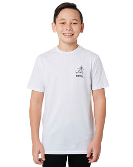 WHITE KIDS BOYS SWELL TOPS - S3193008WHITE