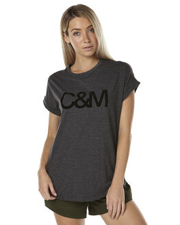 CHARCOAL MARLE WOMENS CLOTHING CAMILLA AND MARC TEES - MCMT6453CHAR