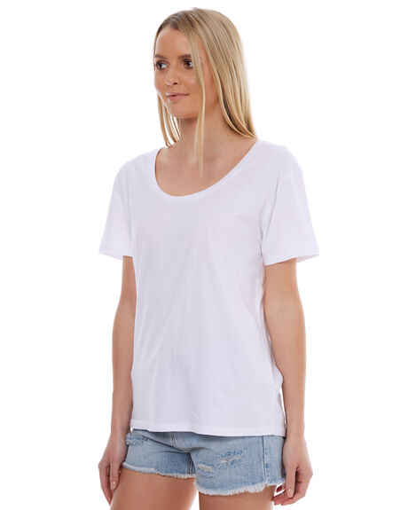 WHITE WOMENS CLOTHING SWELL TEES - S8174004WHITE