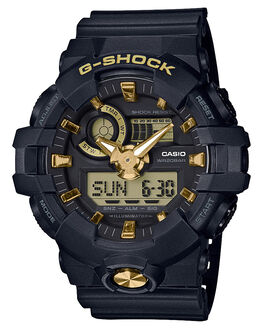 BLACK GOLD MENS ACCESSORIES G SHOCK WATCHES - GA710B-1A9BLKGD